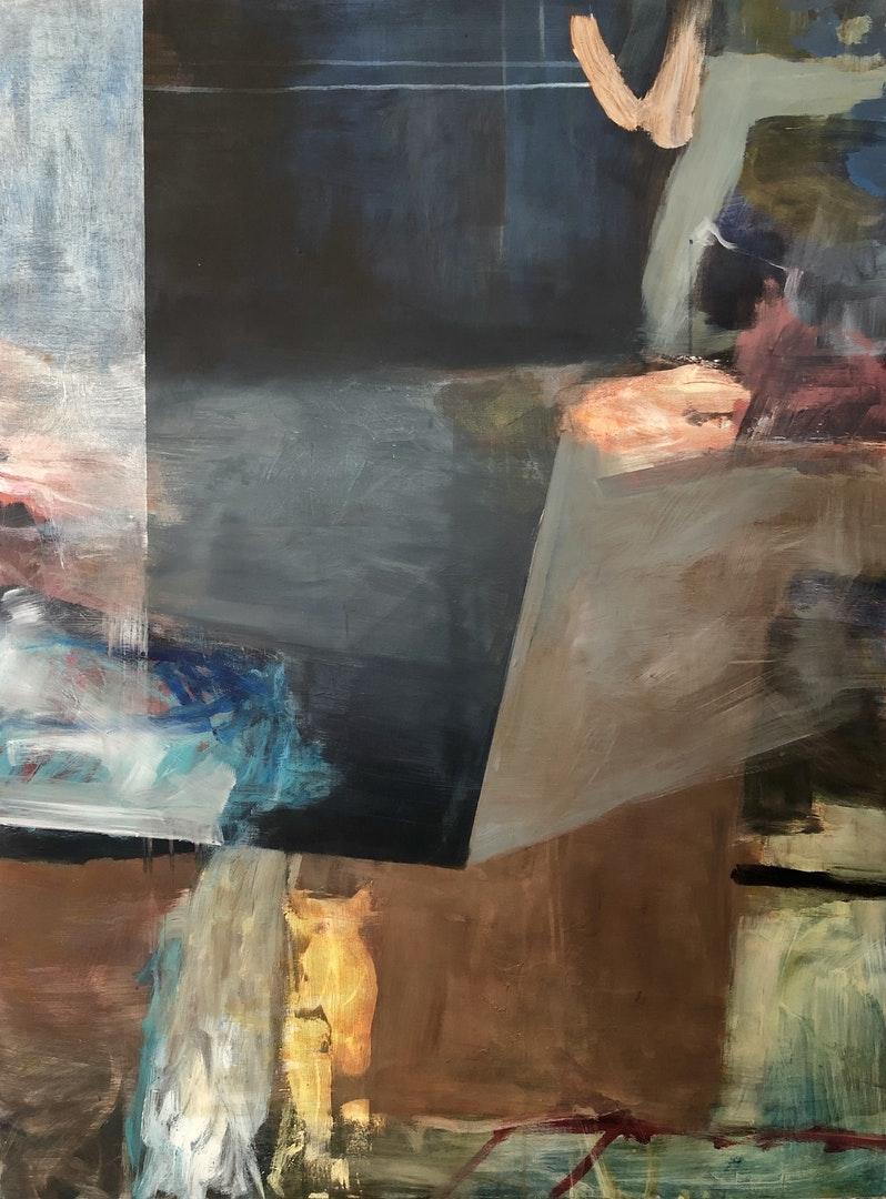 'Multiverse', Priya Vadhyar, Acrylic on canvas, 122 x 91 cm