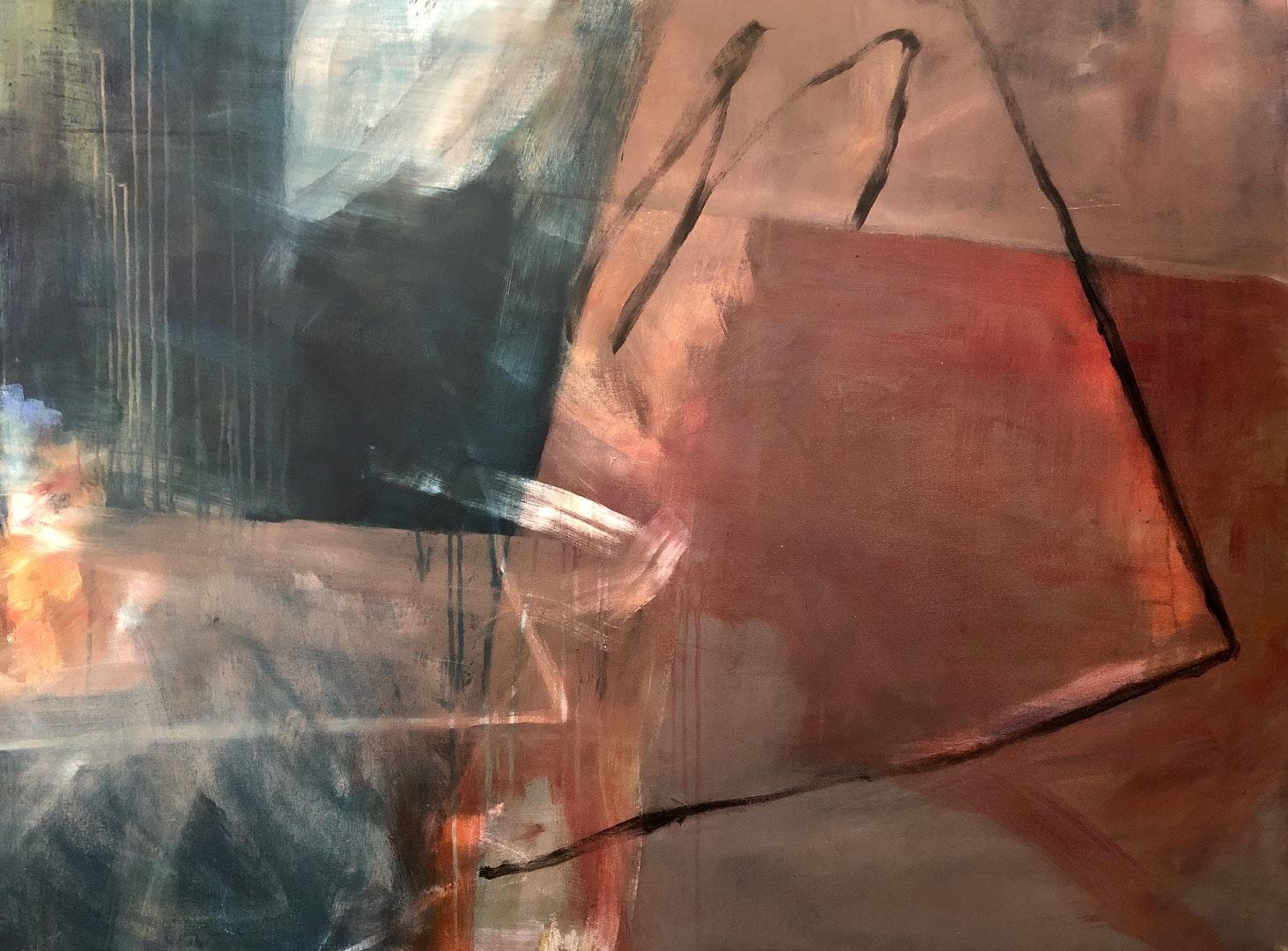 'The Wall (Absent) II', Priya Vadhyar, Acrylic on canvas, 91 x 122 cm