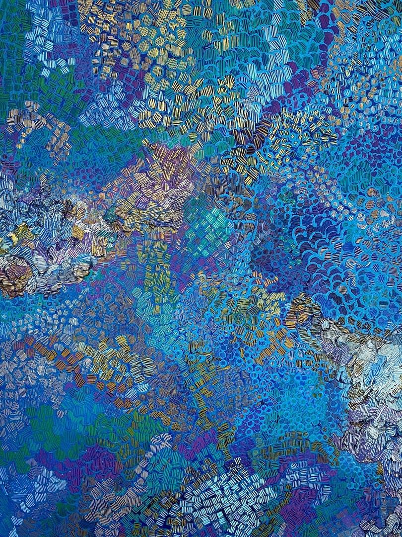 'Meditation of the Deep', Rachael Addis, Acrylic on canvas, 100 x 150 cm