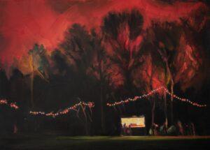 'Nightjars', Rachael Tyler Bacon, Acrylic on canvas, 50 x 70 cm