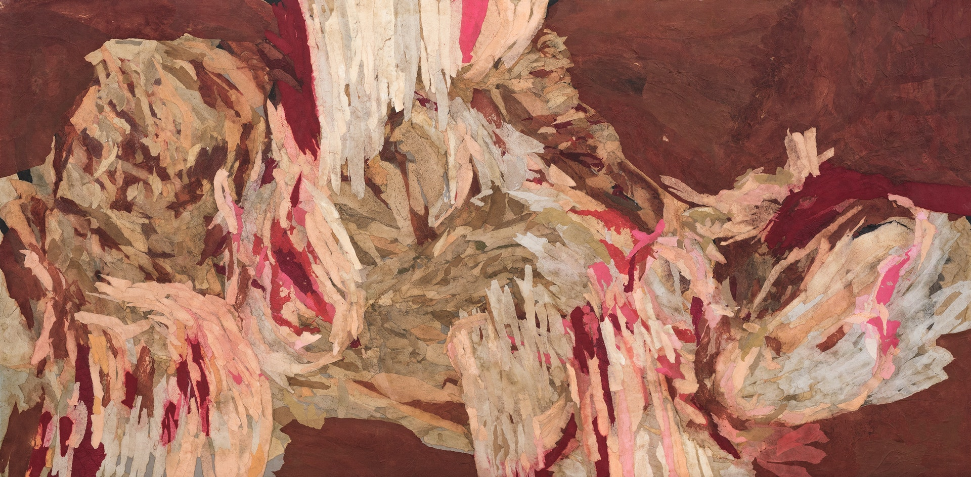 'Raw (En carne viva)', Ramón Redondo, Collage on board, 60 x 120 cm