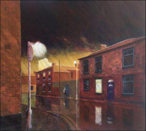 'Homework Still To Do', Rick Smith, Acrylic on board, 73 x 88 cm