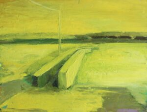 'Quiet Summer', Robbie O'Keeffe, Oil on wood, 22.5 x 30 cm