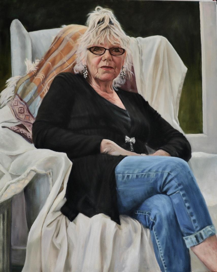 'Portrait of Beverly', Rosie McClelland, Oil on linen, 90 x 70 cm
