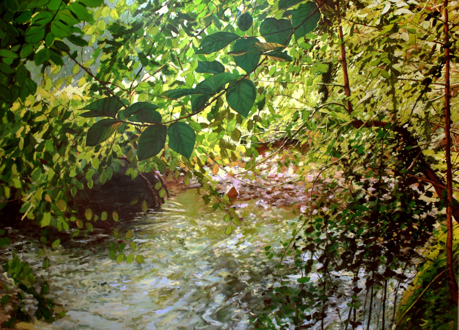 'Woods and Stream 4', Russell Gilder, Oil on canvas, 168 x 228 cm