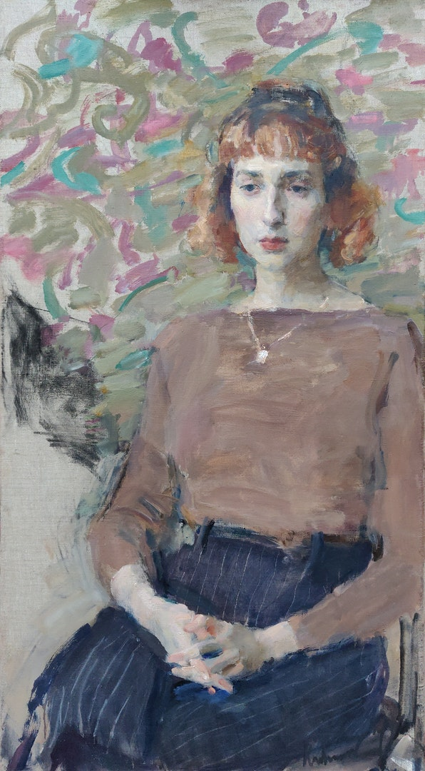 'Portrait of Violetta', Samir Rakhmanov, Oil on canvas, 90 x 50 cm