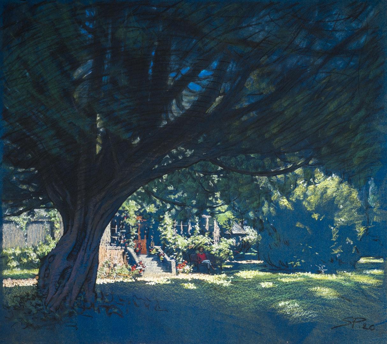 'Lady living alone', Sergey Pietilä, Pastel on paper, 72 x 60 cm