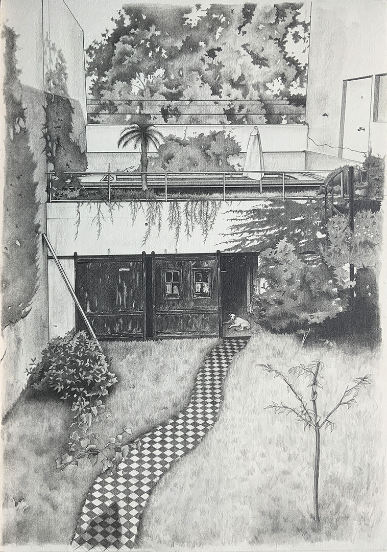 'At the garden', Seryoung An, Pencil on paper, 42 x 29.7 cm