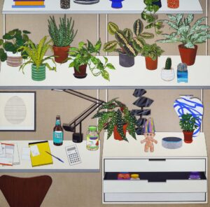 'I hate math but love greens', Sooyoung Chung, Acrylic on linen, 150 x 150 cm