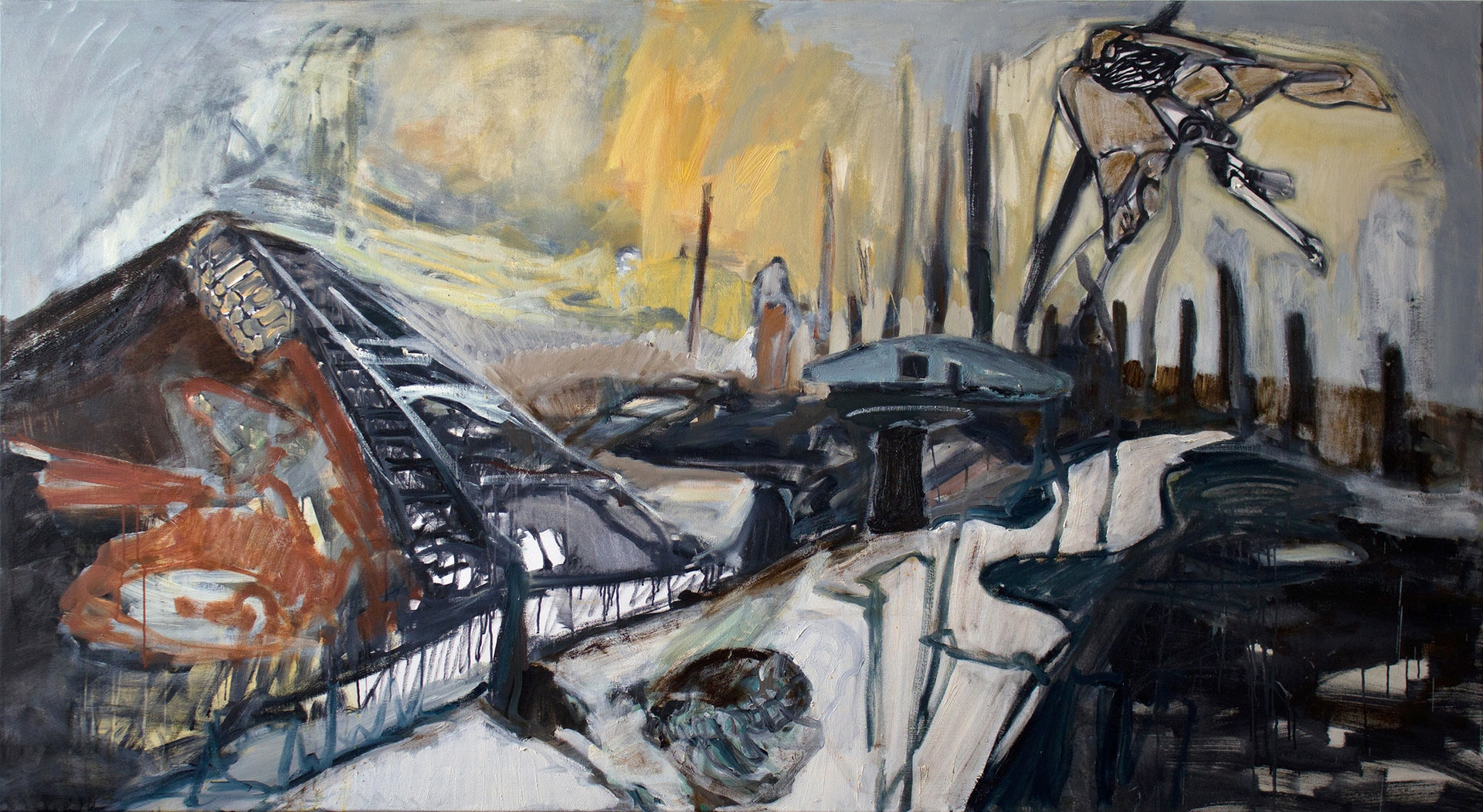 'The Valley 1', Steph Goodger, Oil on canvas, 120 x 220 cm