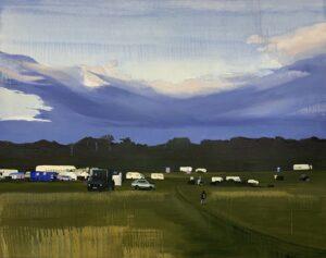 'Rural Fair', Stephanie Fawbert, Oil on canvas, 76 x 102 cm