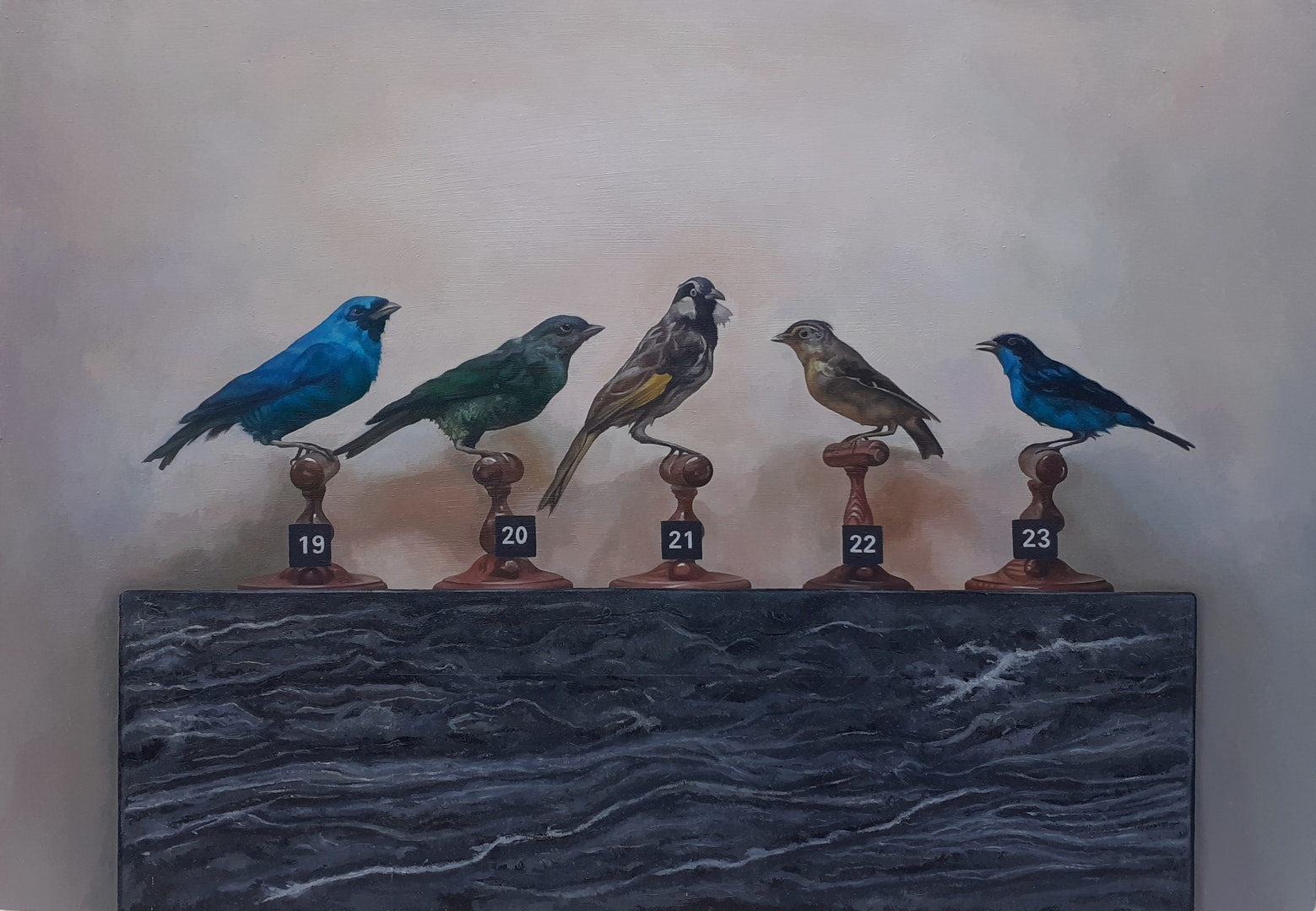 'When your Numbers Up', Stephen Earl Rogers, Oil on Board, 27.5 x 39.5 cm