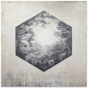 'Desire & Longing 20', Sue Williams A'Court, Graphite mixed media on linen canvas, 180 x 180 cm