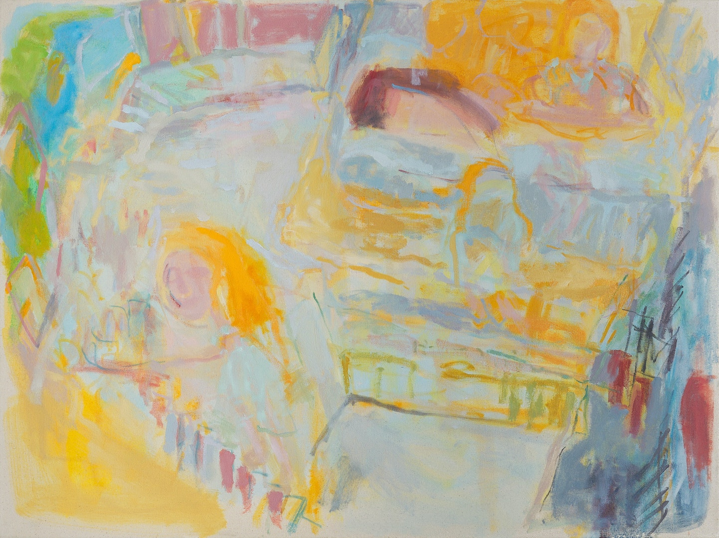 'Five Flights from the Kitchen', Suzanne Baker, Oil on canvas, 76 x 101 cm