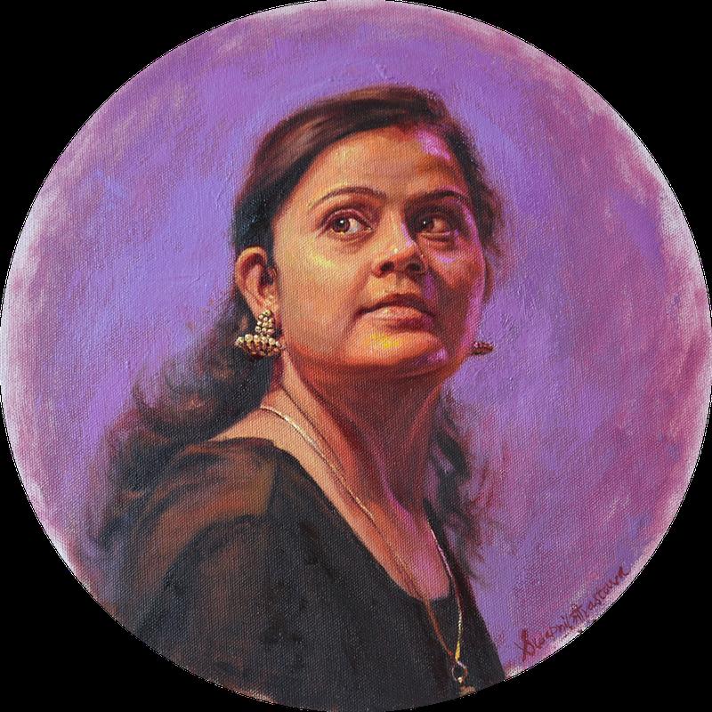 'Jhumka', Swapnil Srivastava, Oil on canvas, 30 cm