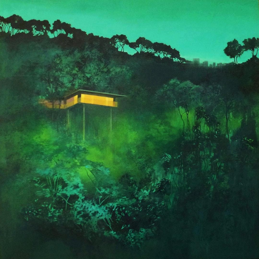 Ark: on the edge of the city', Teresa Lawler, Oil and acrylic on canvas, 76 x 76 cm