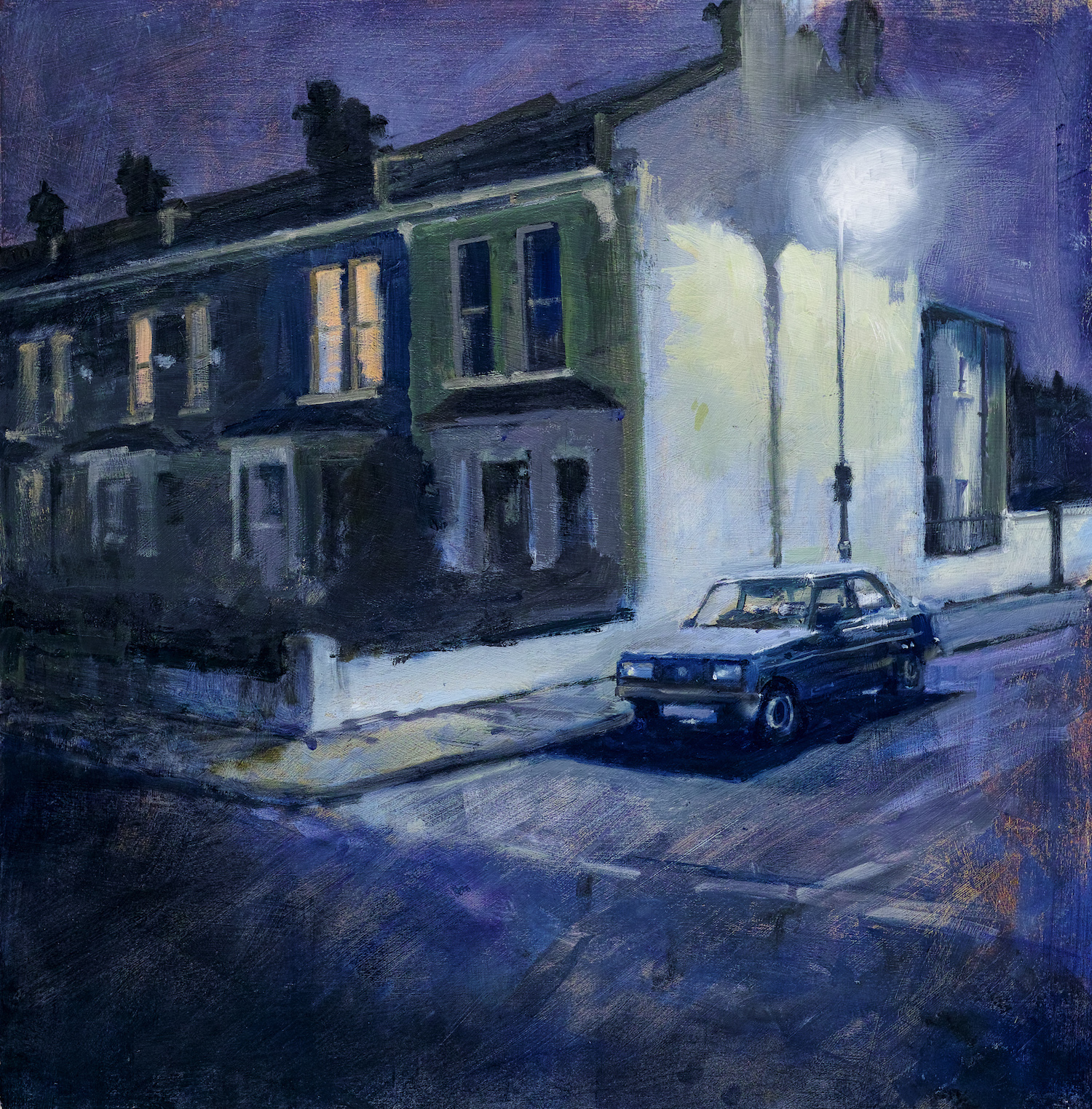 'Wally's 131 nocturne', Tim Goffe, Oil on panel, 51 x 51 cm