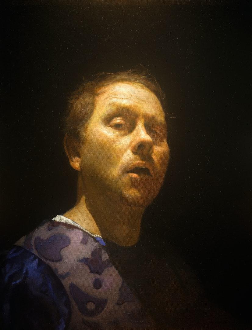 'The Cabinetmaker', Timothy Allen, Oil on linen, 40 x 60 cm