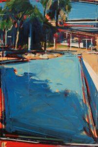 Brisbane Southbank', Tom Voyce, Oil on Board, 30 x 20 cm