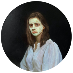 'Do not forget to wear a Mask', Yana Chernova, Oil on linen, 75 x 75 cm