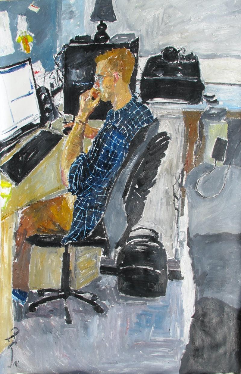 'Edward Thompson', Yunchu Chang, Oil on canvas, 180 x 120 cm